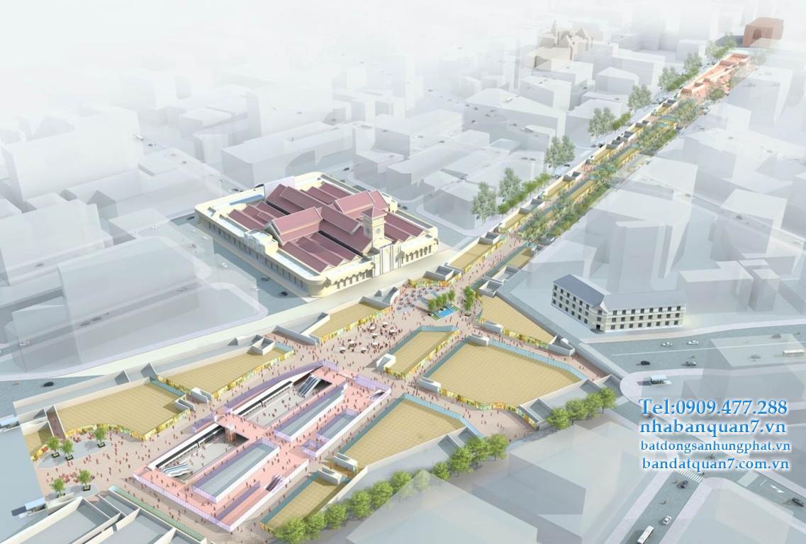 Đề xuất thêm phố đi bộ trên đường Lê Lợi ở gần trung tâm Sài Gòn, kết hợp không gian ngầm